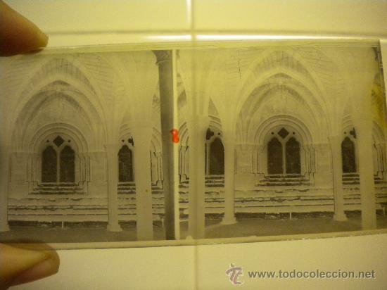 Fotografía antigua: Lote de 12 cristales del Monasterio de Poblet (Tarragona) 6x 13m. 1912. - Foto 6 - 30878308