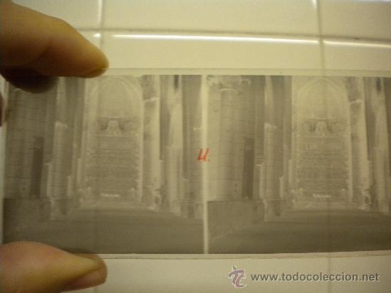 Fotografía antigua: Lote de 12 cristales del Monasterio de Poblet (Tarragona) 6x 13m. 1912. - Foto 8 - 30878308