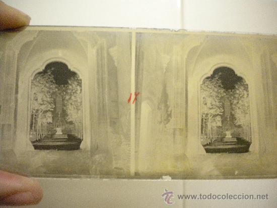 Fotografía antigua: Lote de 12 cristales del Monasterio de Poblet (Tarragona) 6x 13m. 1912. - Foto 9 - 30878308