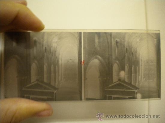 Fotografía antigua: Lote de 12 cristales del Monasterio de Poblet (Tarragona) 6x 13m. 1912. - Foto 10 - 30878308