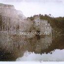 Fotografía antigua: SAU, EL MOLINO EN EL RIO TER, 1915'S. CRISTAL POSITIVO ESTEREO 6X13 CM. FOTO: PARÉS, FXP.. Lote 30978327