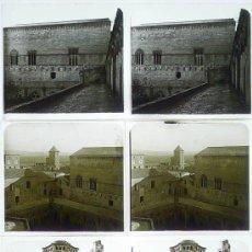 Fotografía antigua: MONASTERIO DE POBLET, TARRAGONA, 1912'S. 3 CRISTALES ESTEREO POSITIVOS 6X13 CM. FXP. Lote 31156253