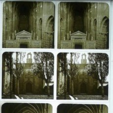 Fotografía antigua: MONASTERIO DE POBLET, TARRAGONA, 1912'S. 4 CRISTALES ESTEREO POSITIVOS 6X13 CM.. Lote 31156304