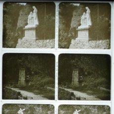 Fotografía antigua: MONTSERRAT, 19120S. LOTE DE 4 CRISTALES ESTEREO POSITIVOS 6X13 CM.. Lote 31156366