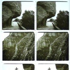Fotografía antigua: MONTSERRAT, 19120S. LOTE DE 3 CRISTALES ESTEREO POSITIVOS 6X13 CM.. Lote 31156374