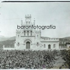 Photographie ancienne: CASTELLDEFELS, IGLESIA PARROQUIAL, AÑO 1912. CRISTAL POSITIVO ESTEREO 6X13 CM. FOTO: PARÉS, FXP. Lote 31271934