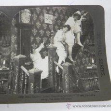Fotografía antigua: ANTIGUA FOTOGRAFIA ESTEREOSCOPICA, N. 5492, TRAVESURAS DE MUCHACHAS, EL DIABLO SUELTO, PRINCIPIOS DE. Lote 31315582