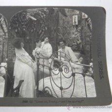 Fotografía antigua: ANTIGUA FOTOGRAFIA ESTEREOSCOPICA, N. 5488, VAMOS NOVICIA, NO SEAS PEREZOSA, PRINCIPIOS DE SIGLO XX,. Lote 31315619