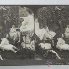 Fotografía antigua: ANTIGUA FOTOGRAFIA ESTEREOSCOPICA, N. 5490, CONTANDO HISTORIAS A MEDIA NOCHE, PRINCIPIOS DE SIGLO XX. Lote 31315671