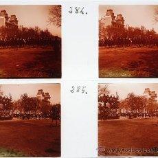Fotografía antigua: MADRID. 1915'S. 2 CRISTALES POSITIVOS ESTEREO 10,5X4 CM.. Lote 31537783