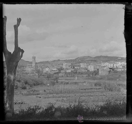 PUEBLO. CATALUNYA. PROVABLEMENTE MARESME. C. 1910 (Fotografía Antigua - Estereoscópicas)