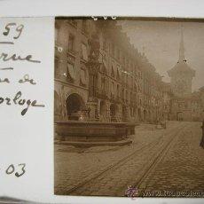 Fotografía antigua: LOTE 9 CRISTALES ESTEREOSCÓPICOS SUIZA 1903: BERNA,PETITE SCHEIDEGG,LUCERNA,LAC D'URI, THOUNE,.... Lote 31641723