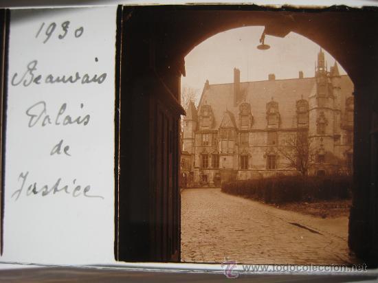 LOTE 4 CRISTALES ESTEREOSCÓPICOS BEAUVAIS FRANCIA.1930 . (Fotografía Antigua - Estereoscópicas)