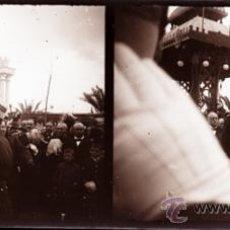 Fotografía antigua: ALICANTE, VISTA, ALFONSO XIII - PLACA ESTEREOSCOPICA CRISTAL NEGATIVO -AÑOS 1900-1905. Lote 31938306