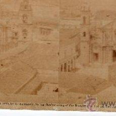 Fotografía antigua: VISTAS CUBANAS, CATEDRAL DONDE ESTAN LOS RESTOS DE CRISTOBAL COLÓN CON LA ENTRADA AL PUERTO. Lote 32166547