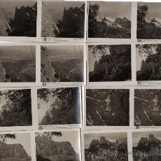 Fotografía antigua: COLECCIÓN Nº 1 DE 15 FOTOGRAFIAS ESTEREOSCÓPICAS RELLEV DE MONTSERRAT, BARCELONA, 1ª SERIE. Lote 32255802