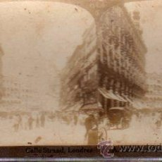 Fotografía antigua: FOTOGRAFÍA CALLE STRAND, LONDRES, METROPOLITAN ART STUDIOS, BOLIVAR ROMERO. Lote 32302589
