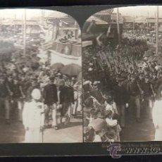 Fotografía antigua: FOTOGRAFIA. H.C. WHITE CO. 8330 JAPANESE SCHOOL BOYS IN THE FUNERAL PROCESSION OF LIEUT. JAPAN. Lote 32326492