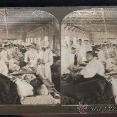 Fotografía antigua: FOTOGRAFIA. H.C. WHITE CO. 8360 JAPANESE WOUNDED IN WARD 10, MILITARY HOSPITAL HIROSHIMA. Lote 32326533