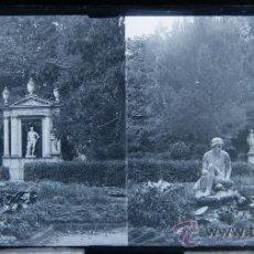 Fotografía antigua: NUMULITE C0110 CRISTAL ESTEREOSCÓPICO LABERINTO HORTA LABERINT D'HORTA ESCULTURA JARDÍN 17 CRISTALES. Lote 32513628