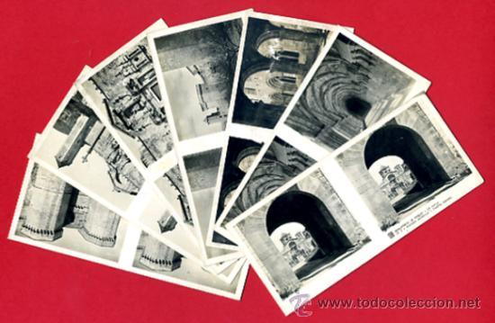 LOTE 7 FOTOS ESTEREOSCOPICAS, MONASTERIO DE POBLET TARRAGONA , ORIGINALES L4 (Fotografía Antigua - Estereoscópicas)