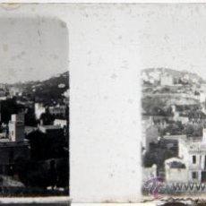 Photographie ancienne: NUMULITE L0038 CRISTAL ESTEREOSCÓPICO PUEBLO DESCONOCIDO DETALLE DE LAS CASAS CASA. Lote 32642057