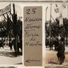 Photographie ancienne: NUMULITE C018 CRISTAL ESTEREOSCÓPICO FERIA DE MUESTRAS BESTIAR GANADO ANIMADA BARCELONA ?. Lote 32757087
