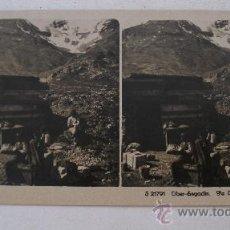 Fotografía antigua: FOTO ESTEREOSCOPICA SUIZA: OBER ENGADIN. PIZ CAMBRENA, EDITOR NPG S21791 (18X9CM APROX). Lote 33880502
