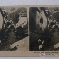 Fotografía antigua: FOTO ESTEREOSCOPICA SUIZA: OBER ENGADIN. PONTRESINA, EDITOR NPG S21770 (18X9CM APROX). Lote 33880639