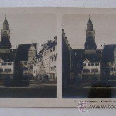 Fotografía antigua: FOTO ESTEREOSCOPICA ALEMANIA: DER BODENSEE. UEBERLINGEN, HOFSTATT, EDITOR NPG 5 (18X9CM APROX). Lote 33880633