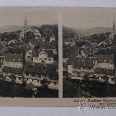 Fotografía antigua: FOTO ESTEREOSCOPICA ALEMANA: NÖRDL.SCHWARZWALD, LICHTENTAL V.CÄCILIEN..,EDITOR NPG (18X9CM APROX). Lote 33880618