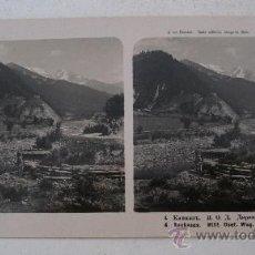 Fotografía antigua: FOTO ESTEREOSCOPICA DEL CAUCASO: GIOIA, RUTA MILITAR, ED NPG 4 (18X9CM APROX). Lote 33880495