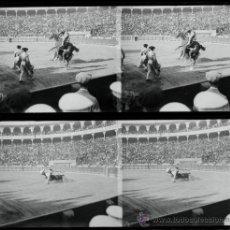 Fotografía antigua: TOROS. MADRID O BARCELONA, 1915'S. 2 CRISTALES ESTEREO NEGATIVOS 6X13 CM. Lote 33317166