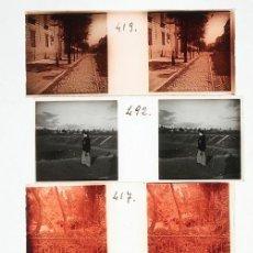 Fotografía antigua: MADRID. 1915'S. LOTE DE 30 CRISTALES POSITIVOS ESTEREO 10,5X4 CM.. Lote 33342195