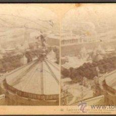 Fotografía antigua: ALBUMINA ESTEREOSCOPICA. TORRE TROCADERO. PARIS, FRANCIA. CA. 1900. Lote 33649808