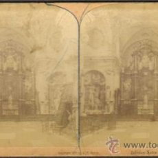 Fotografía antigua: ALBUMINA ESTEREOSCOPICA. INTERIOR DE LA IGLESIA DE NOTRE DAME. BRUJAS, BÉLGICA. CA. 1889. Lote 33719361