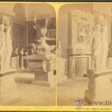 Fotografía antigua: ALBUMINA ESTEREOSCOPICA. LAS TRES GRACIAS DE GERMAIN PILON (ESCULTURAS). PARIS, FRANCIA. CA. 1898. Lote 33719900