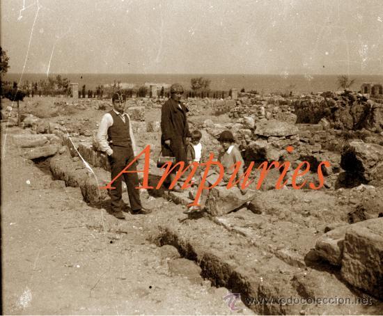 Fotografía antigua: AMPURIES - 1920S - 3 NEGATIUS DE VIDRE - Foto 2 - 34146475