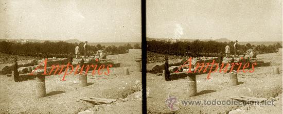 Fotografía antigua: AMPURIES - 1920S - 3 NEGATIUS DE VIDRE - Foto 3 - 34146475