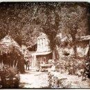 Fotografía antigua: BASSEGODA, MOLINO DE ST. ANIOL, JUNIO 1911. CRISTAL POSITIVO ESTEREO 6X13 CM. FXP. Lote 34524578