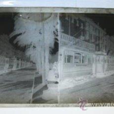 Fotografía antigua: ANTIGUO CLICHE ESTEREOSCÓPICO ORIGINAL NEGATIVO EN CRISTAL. IMAGEN DE UN TRANVÍA . Lote 34644177