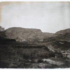 Fotografia antiga: LA FEBRÓ, PROV. DE TARRAGONA, VISTA GENERAL 1915'S. CRISTAL POSITIVO ESTEREO 6X13 CM. FOTO: FXP. Lote 35257294