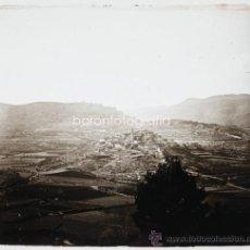 Fotografia antiga: CAPAFONS, BAIX CAMP, PROV. DE TARRAGONA, VISTA GENERAL 1915'S. CRISTAL POSITIVO ESTEREO 6X13 CM. FXP. Lote 35258530