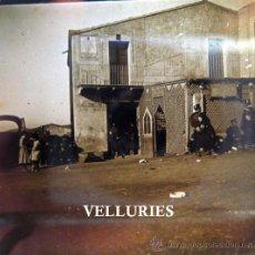 Fotografía antigua: VALLVIDRERA. POSITIVO CRISTAL. 4,5 X 10,5 CM. PANADERIA, COMESTIBLES, SOLDADOS, NIÑOS, ETC. Lote 35432530