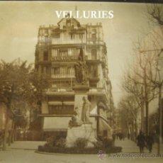 Fotografía antigua: MONUMENTO R. CASANOVAS. BARCELONA. HACIA 1925-1930. ESTEREO POSITIVO. CRISTAL 6 X 13 CM. Lote 35476923