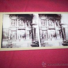 Fotografía antigua: ESTEREOSCOPICA PARTICULAR TOLEDO RETABLO CONVENTO DE SANTA ISABEL S. XIX. Lote 35593234