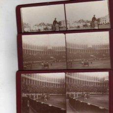 Fotografía antigua: LOTE DE 9 ESTEREOCÓPICAS DE MADRID. PLAZA DE TOROS. UNA CORRIDA. . Lote 35621958
