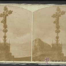 Fotografía antigua: MONTSERRAT - 5º MISTERIO DE DOLOR CAMINO DE LA CUEVA - (F-317). Lote 35811773