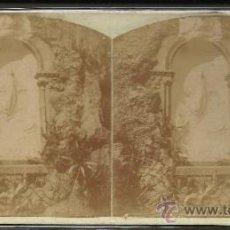 Fotografía antigua: MONTSERRAT - 2º MISTERIO DE GLORIA CAMINO DE LA CUEVA - (F-320). Lote 35811824