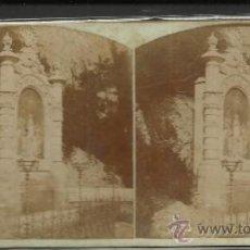Fotografía antigua: MONTSERRAT - 3º MISTERIO DE GLORIA CAMINO DE LA CUEVA - (F-332). Lote 35814138